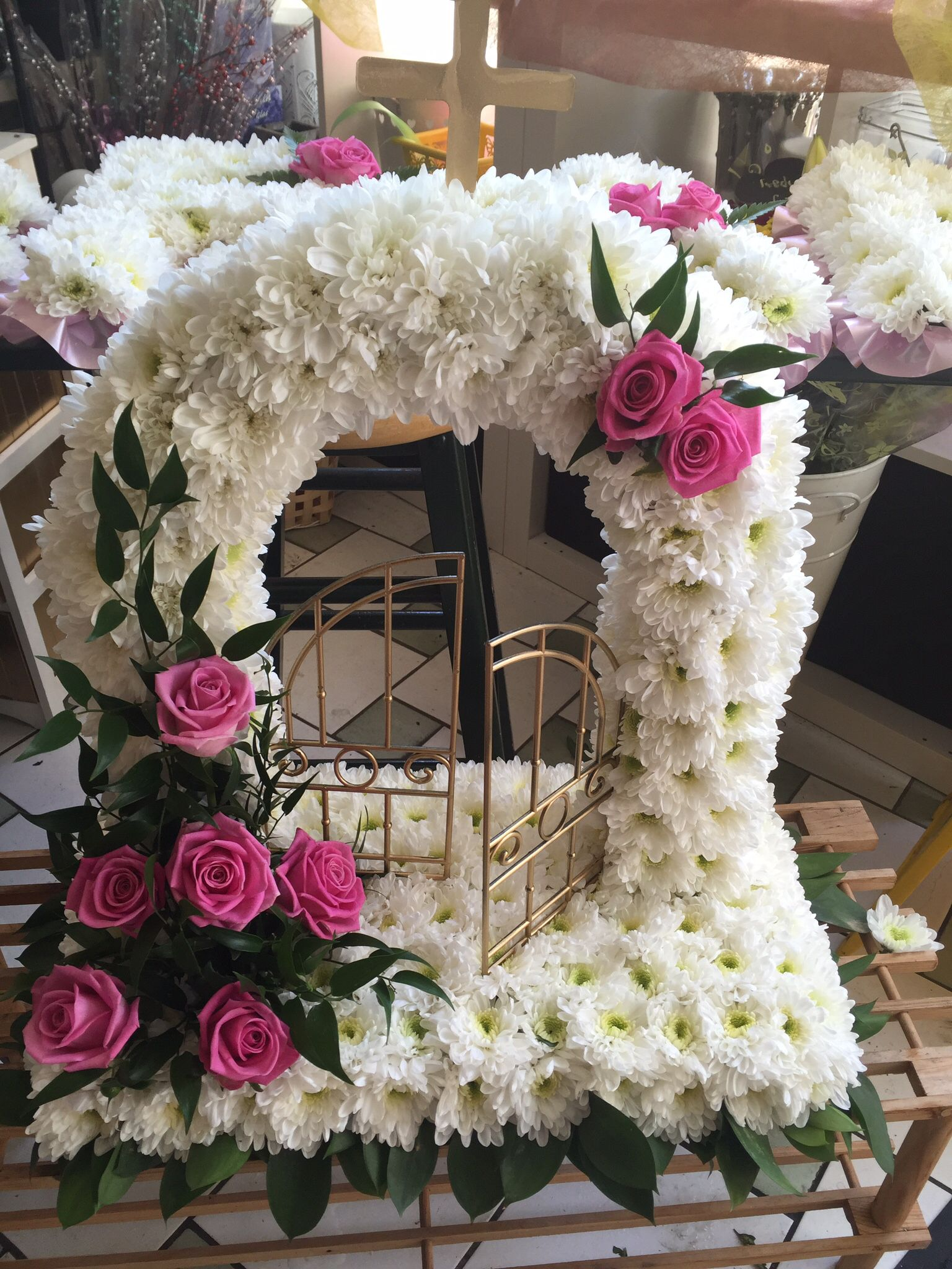 Gates of heaven funeral flowers pinterest funeral flowers gates of heaven izmirmasajfo