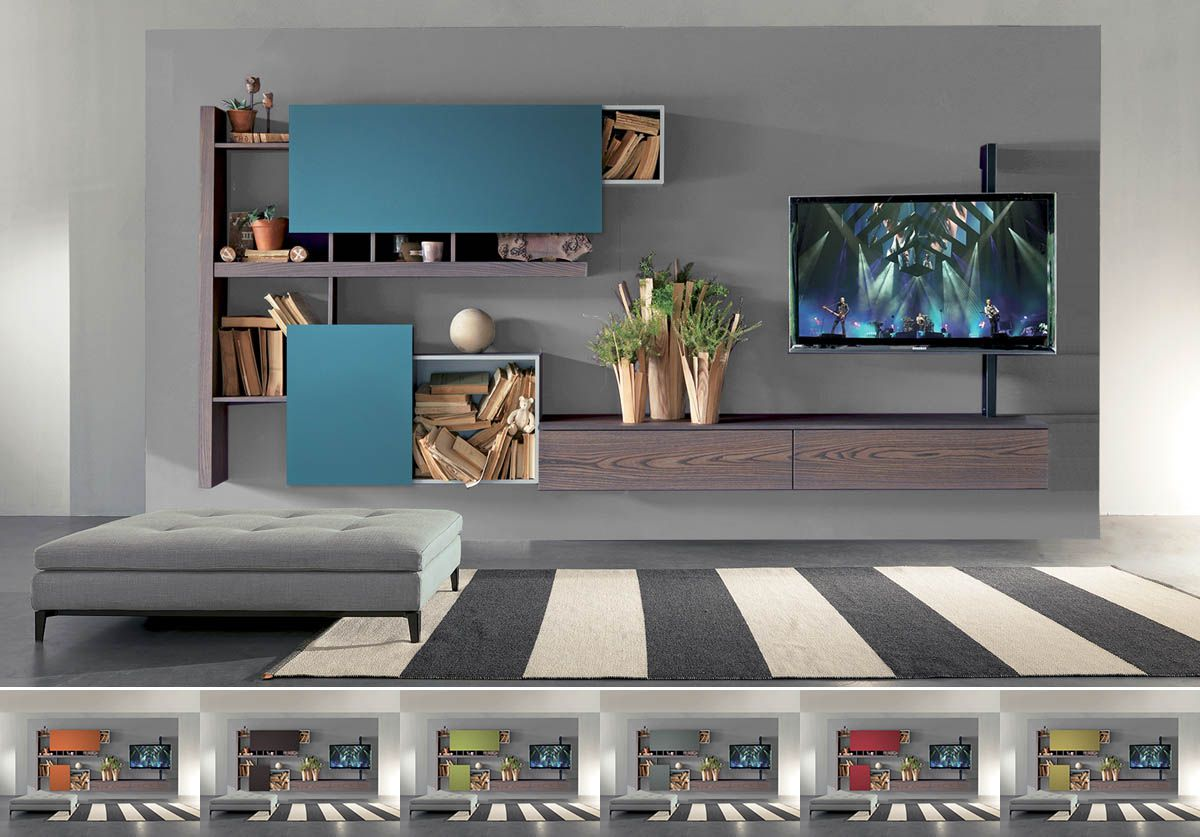 Fimar Mobili ~ Fimar mobili parete side system con tv rack evo digital sound