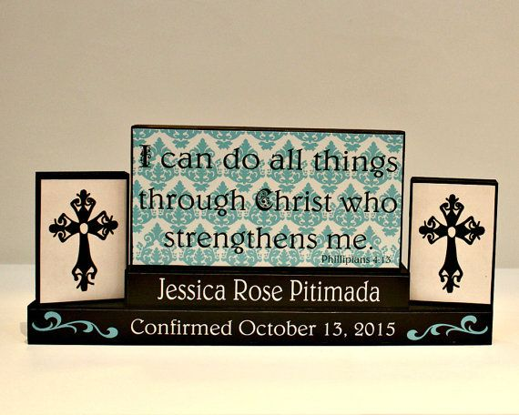 Personalized Confirmation Gift Religious Blocks by TimelessNotion ...