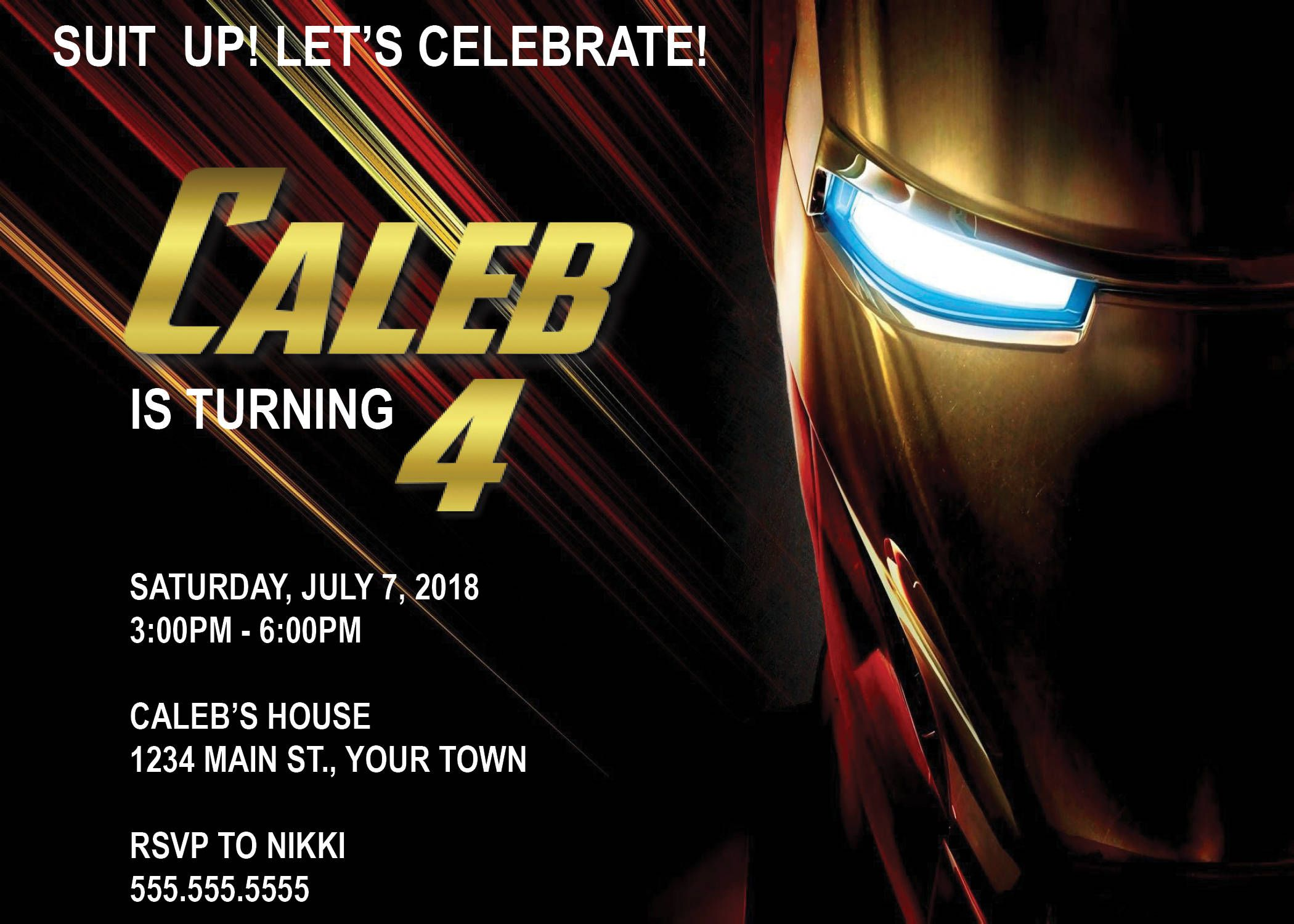 DIGITAL* Iron Man Birthday Party Invitation by NicolePartyDesigns on ...
