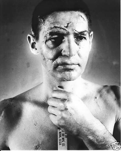 Terry Sawchuk Vintage Nhl Goalie 8x10 Photo Stitches No Mask No