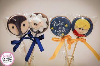 Sweet Cucas and Cupcakes by Rosângela Rolim: Alfajores Decorados Tema Pequeno Príncipe