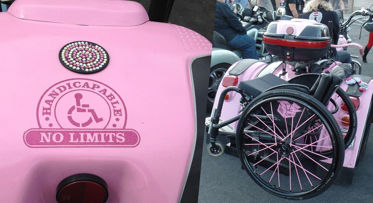 Pink Trike handicapable