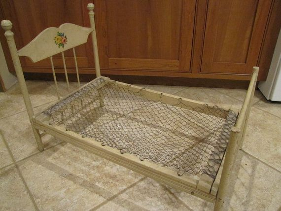 Darling Dolly Bed by AuntVarieasAttic on Etsy