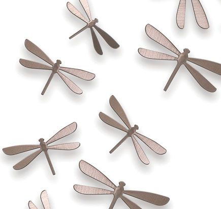 Superior Bathroom+wallpaper+dragonfly | Joyful Umbra Wallflutter Wall Decor