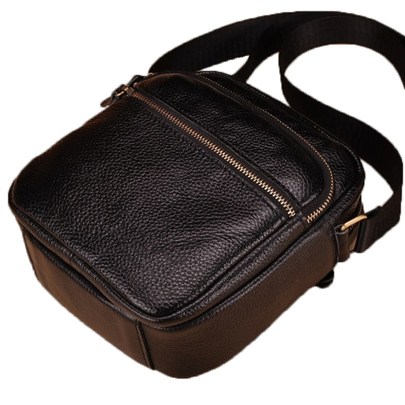 Leather · Hot sell genuine leather men bags brand men small messenger ... 1e8f99d74f