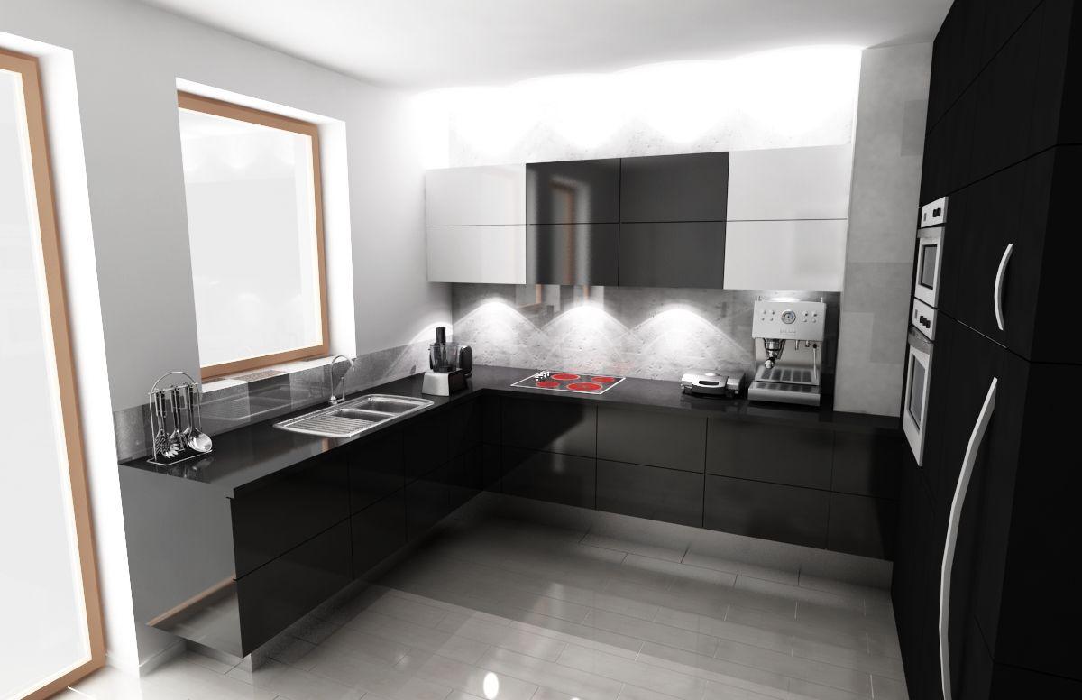 Nowoczesna Kuchnia W Domu Jednorodzinnym Home Design Architecture