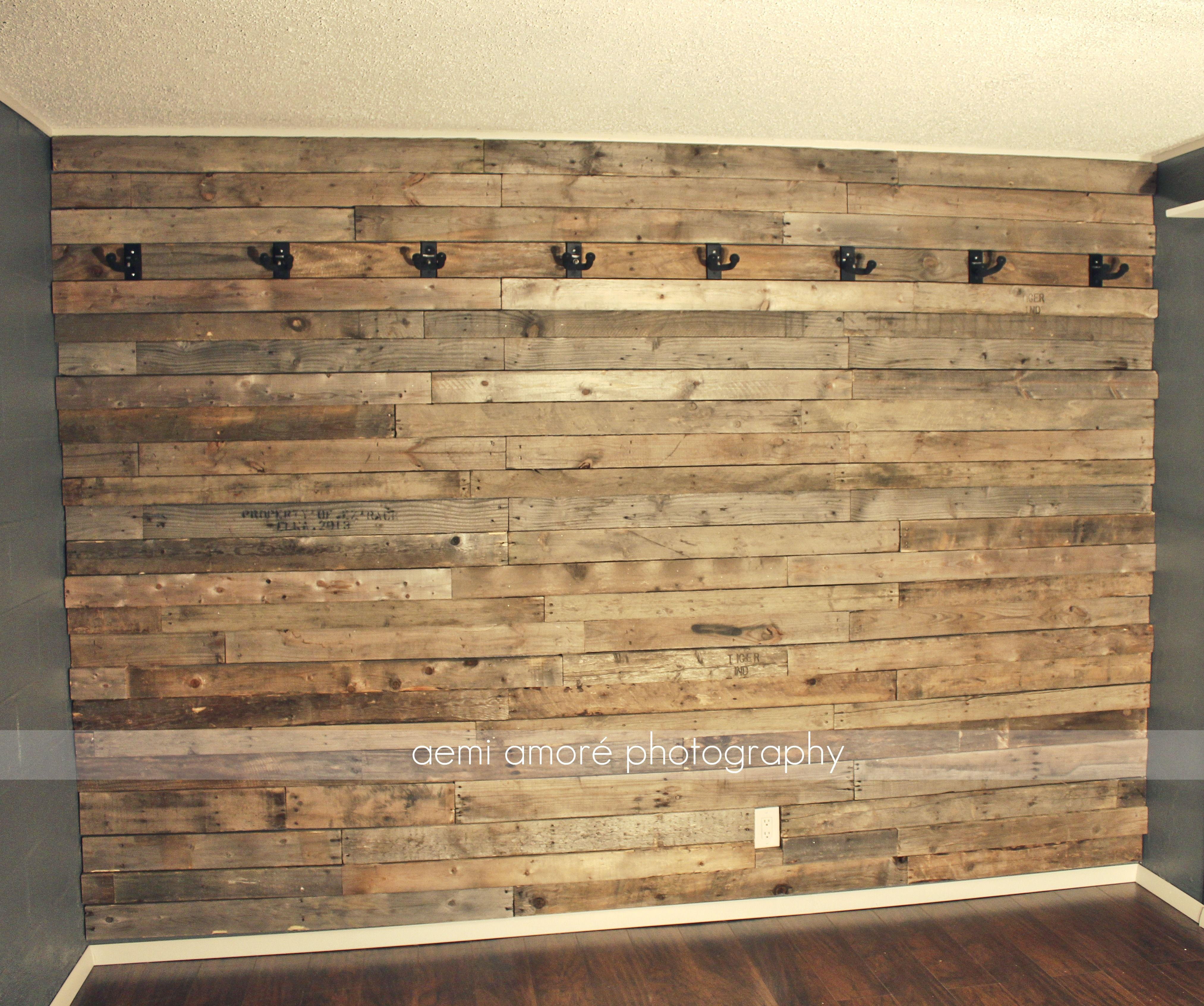 Pallet Wall Idea Custom Man Cave Jam Room Music Room Bar Game Room I Made This Wooden Rustic Pallet Wall For My Husband To Hang All Studio Music