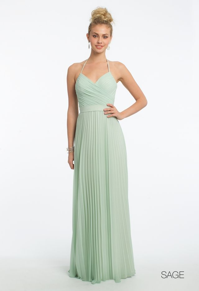 Chiffon Lace Up Back Pleat Dressfrom Camille La Vie and Group USA