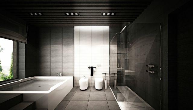Salle De Bain Ultra Moderne, Salle De Bain Luxe, Douche Italienne, Design  Contemporain