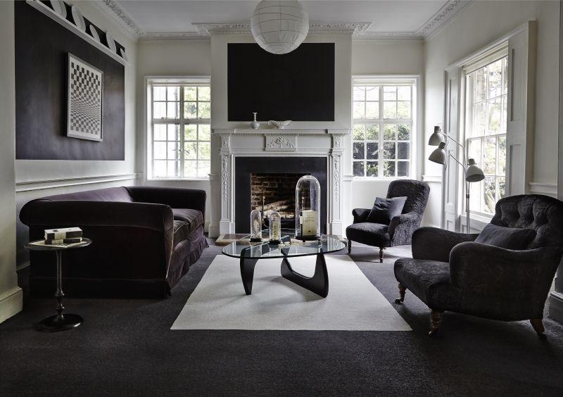 Dark Grey Carpet Living Room, Dark Carpet Living Room