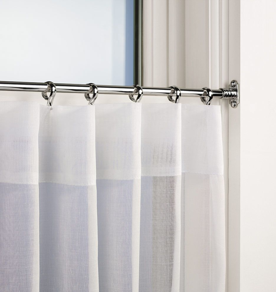 Inside Mount Cafe Rod Set Cafe Curtain Rods Bathroom Window