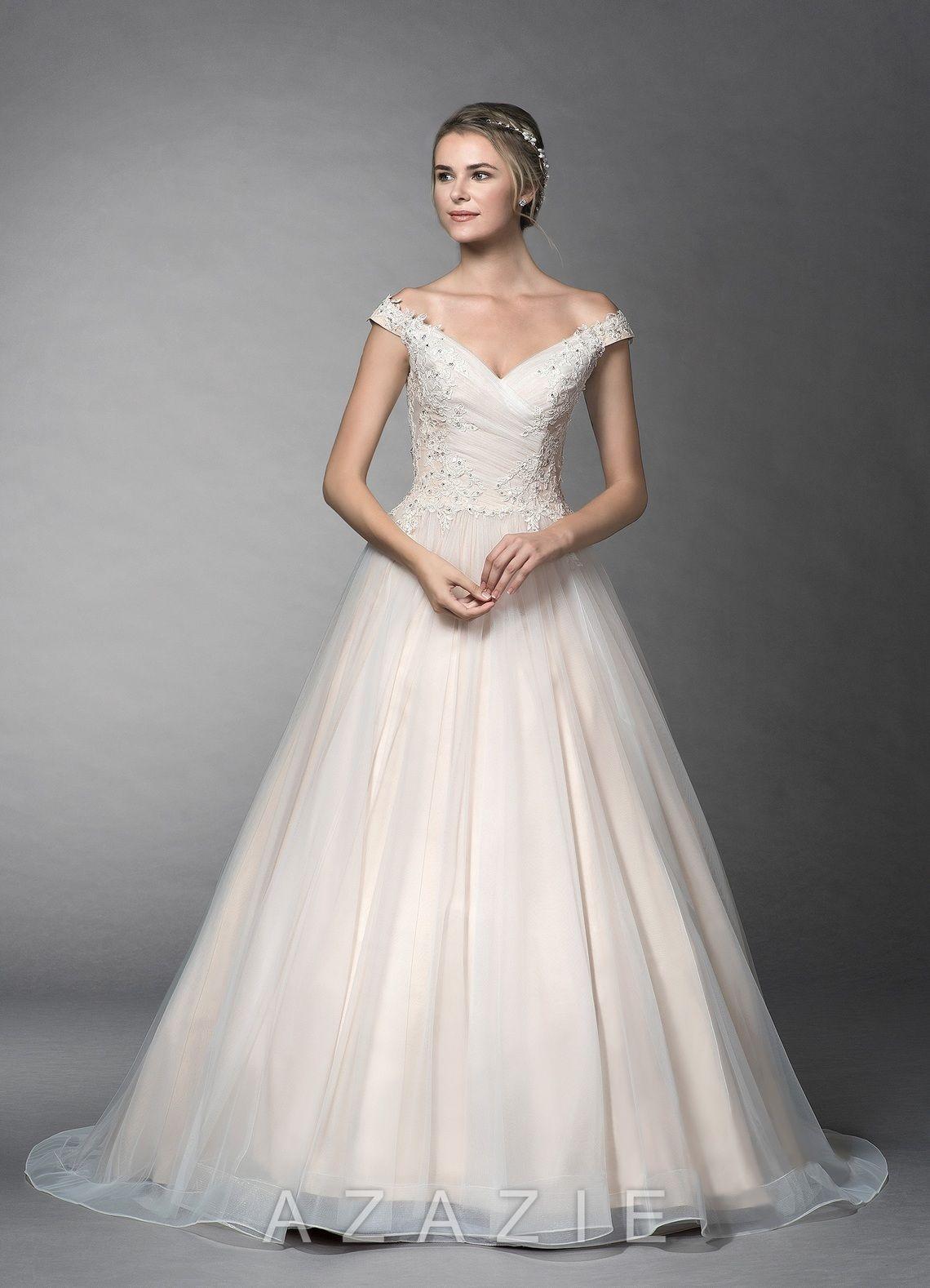 Azazie BG Wedding Dress Diamond White/Champagne