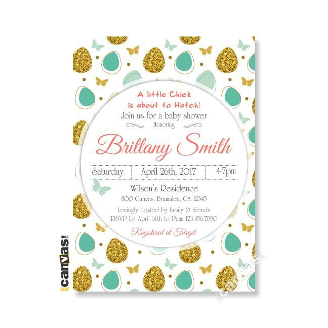 Easter Baby Shower Invitations Coed Egg Invite Gender Neutral Fl Printable Or Printed Bs171 By 800canvas On