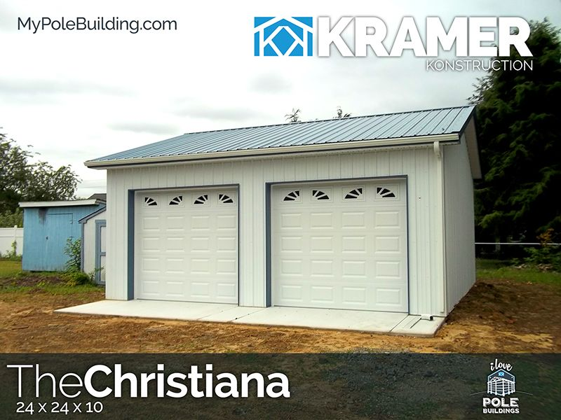 The Christiana - 24 x 24 x 10 View, configure and price this building at http://www.MyPoleBuilding.com/