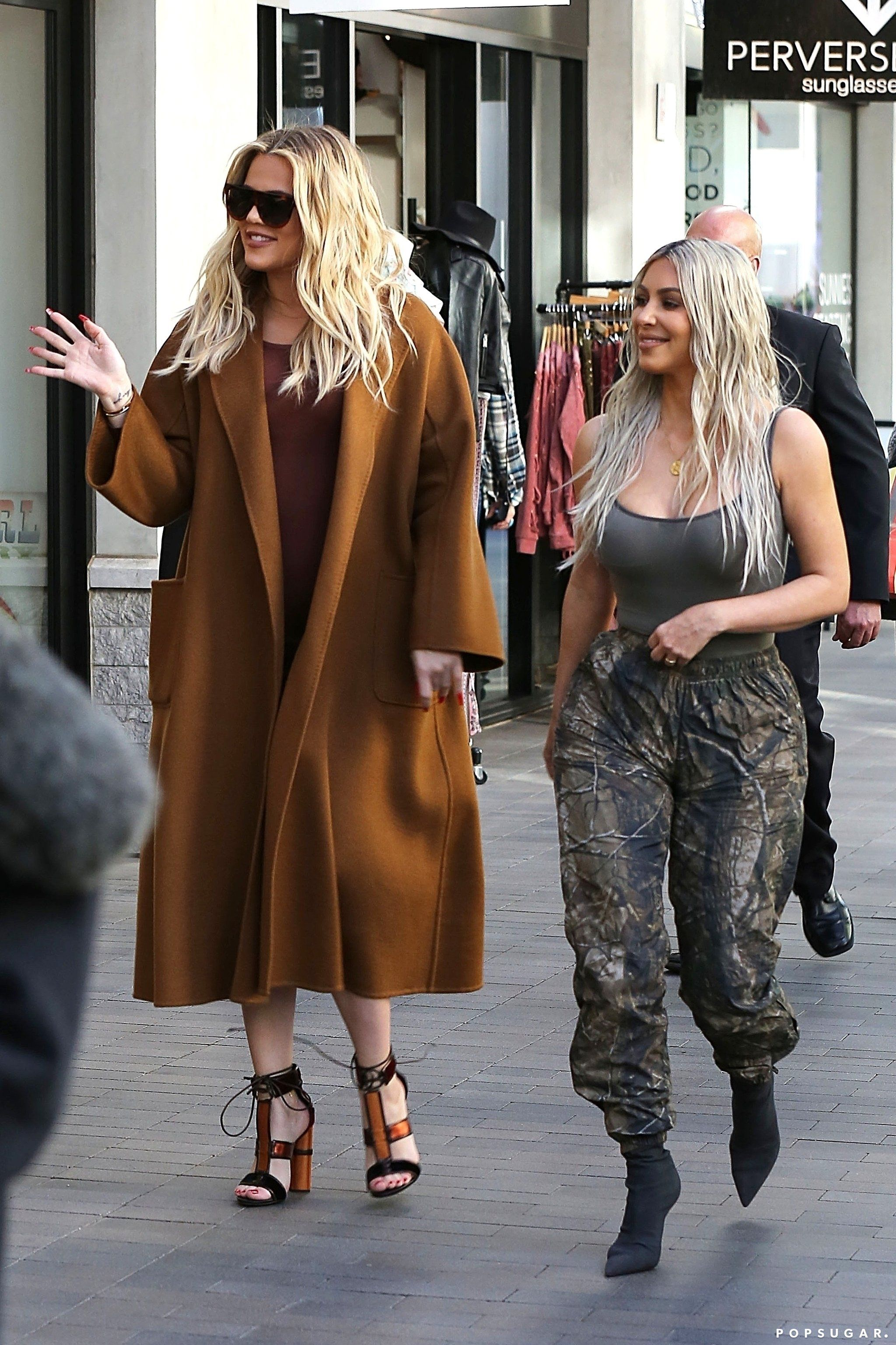 0f0bdb9bf2 Khloé and Kourtney Surprise Kim With a Flash Mob at the Mall