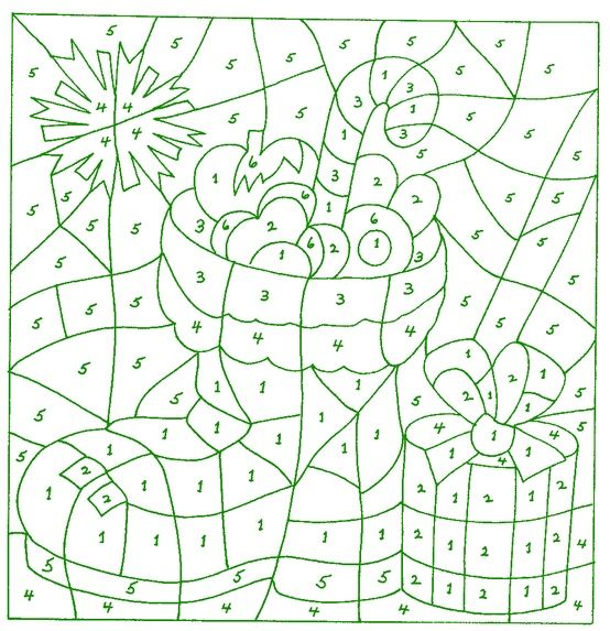 Christmas Color By Number Christmas Coloring Pages Holiday Crafts Christmas Christmas Color By Number