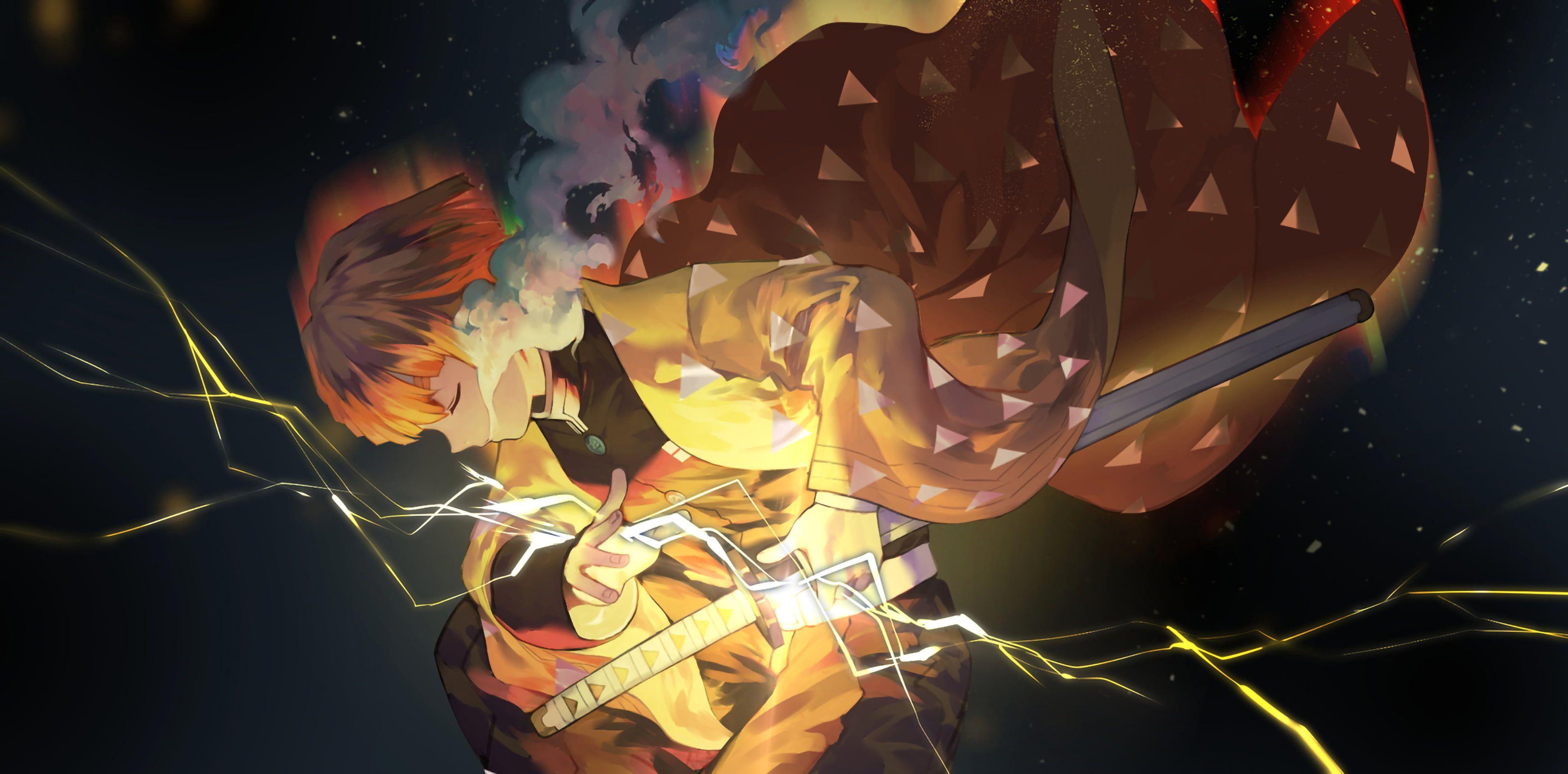 Anime Demon Slayer Kimetsu No Yaiba Zenitsu Agatsuma 2k Wallpaper Hdwallpaper Desktop In 2020 Anime Wallpaper Live Anime Images Anime Wallpaper