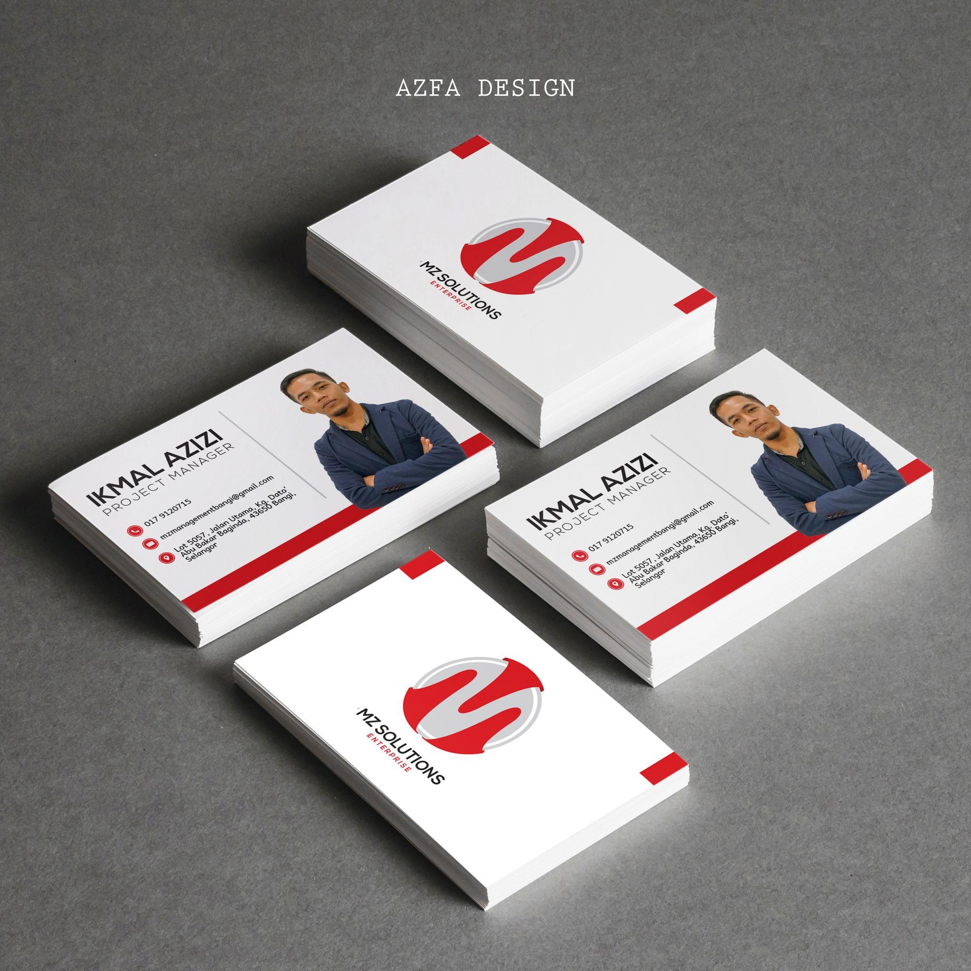 Azfadesign Businesscard Boleh Bagi Bisnes Kad Belum Ada Lagi Kenapa Perlu Ada Book Cover Business Cards Projects
