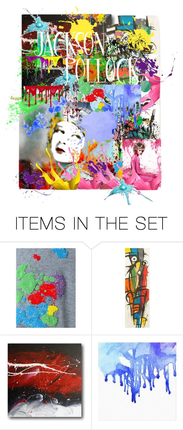 """""""Pollock"""" by rosalindmarshall ❤ liked on Polyvore featuring art"""