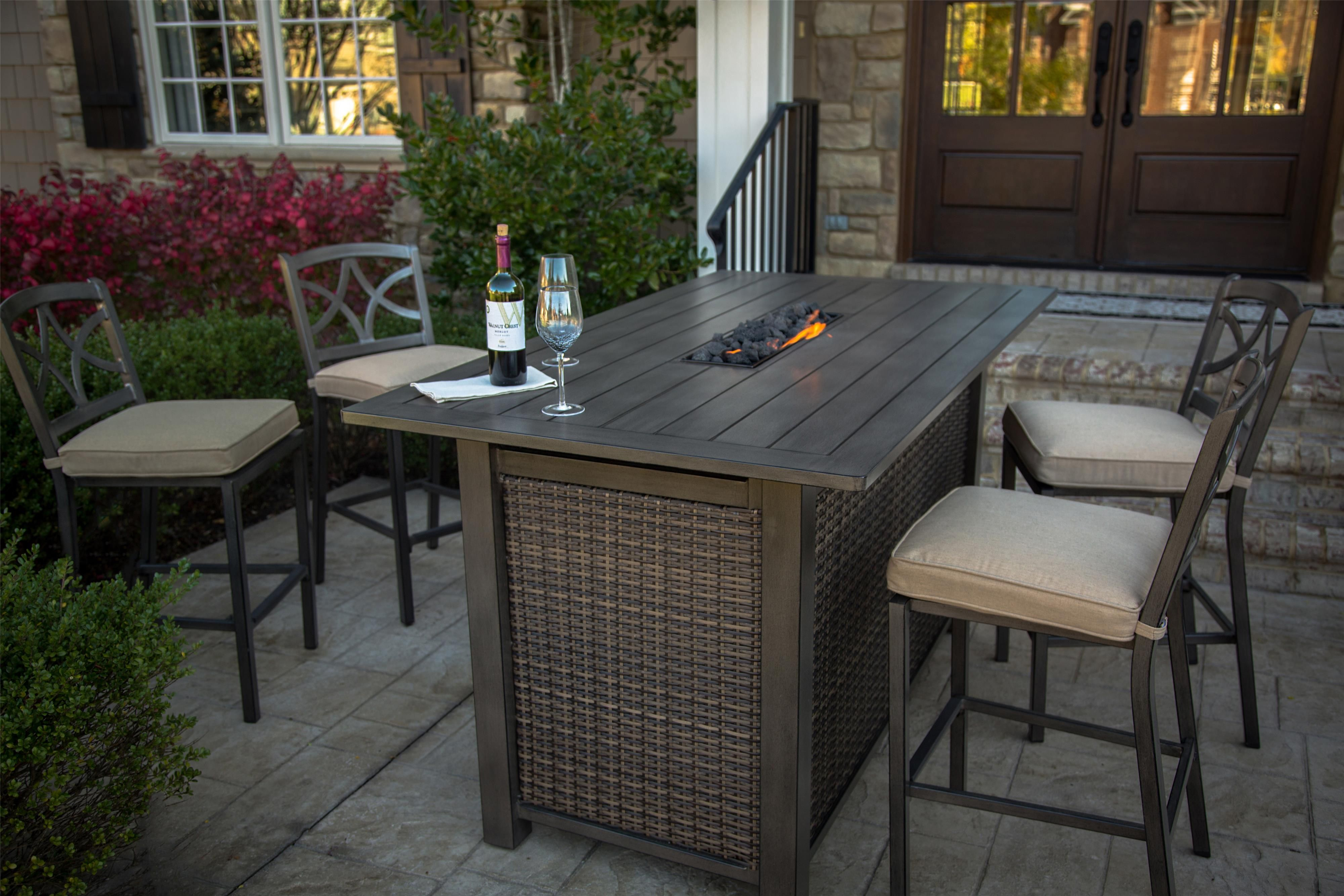 Amazing Davenport Fire Pit Pub Set W Barstools By Agio In 2019 Uwap Interior Chair Design Uwaporg
