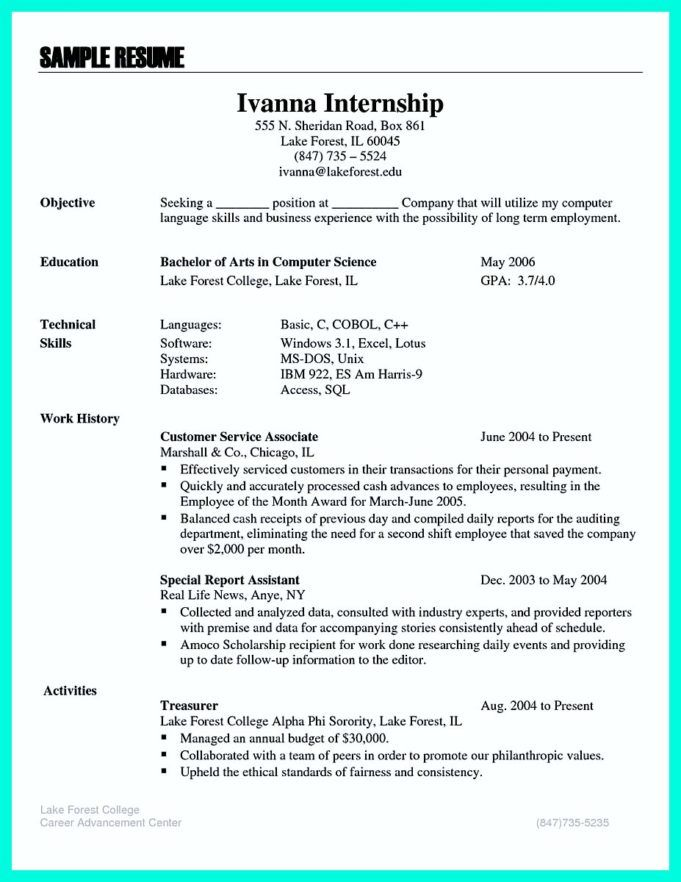 The Best Computer Science Resume Sample Collection ...