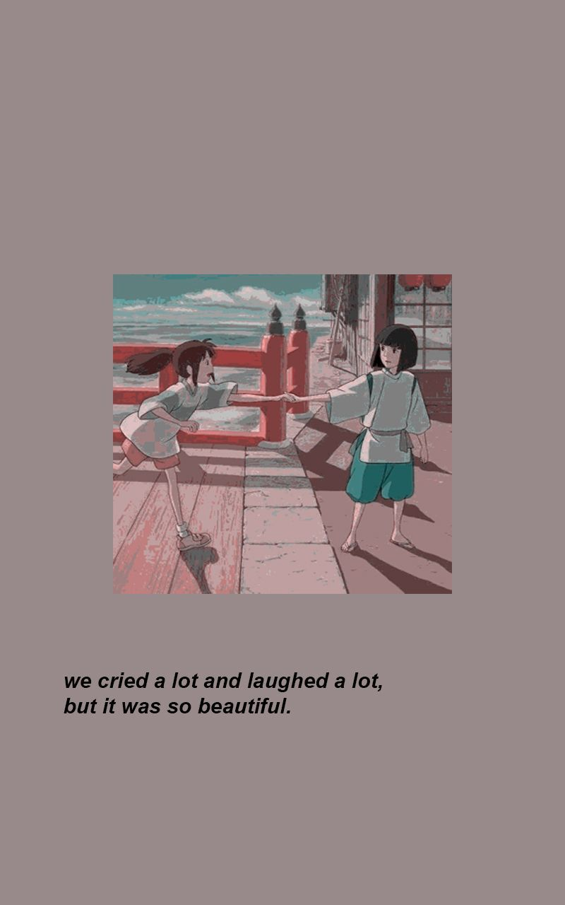 Wallpaper Anime Wallpaperanime Chihiro Spirited Away Quote