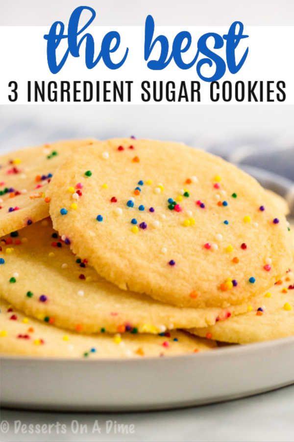 17 sugar cookie recipe easy 3 ingredients no egg ideas