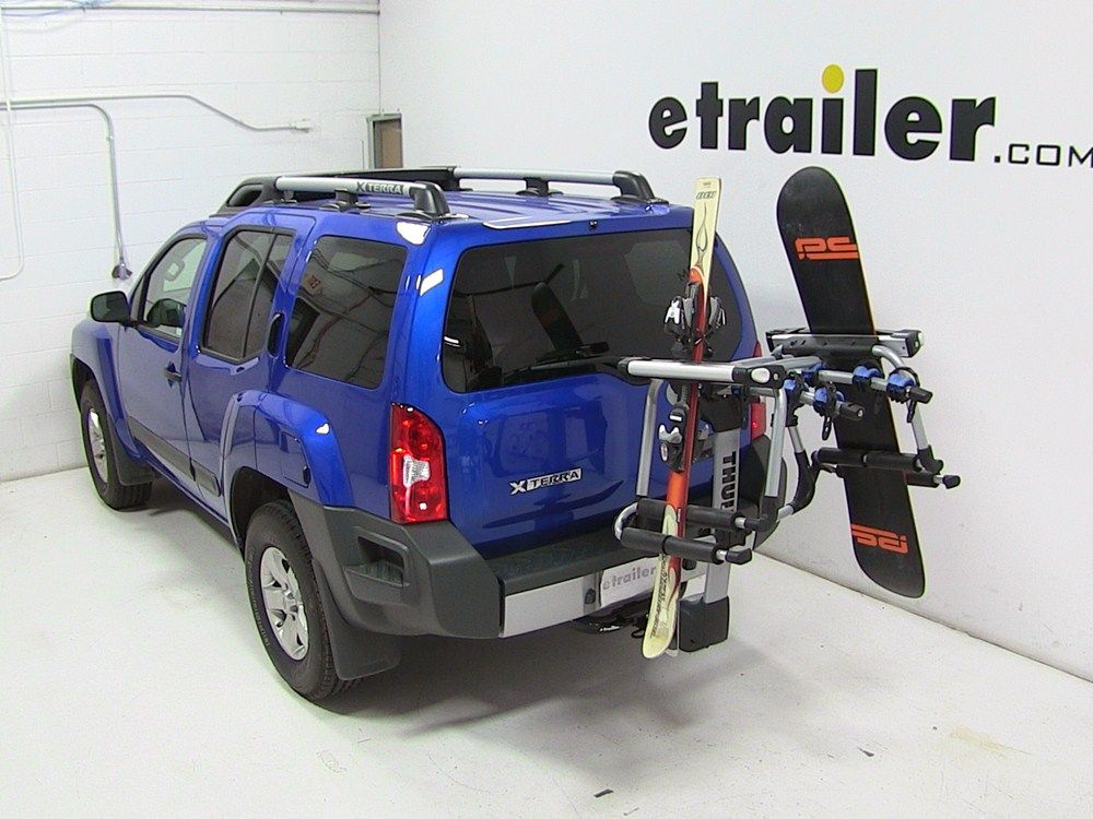 Thule Tram Ski And Snowboard Carrier Adapter For Hitch Mounted Bike Racks Thule Ski And Snowboard Ra Ski And Snowboard Bike Skiing