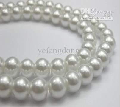 Wholesale 4/6/8/10/12mm White Glass Pearls Beads,Round Pearl Loose Bead for Necklace/Bracelet DIY Accessory, Free shipping, $21.0-34.65/Set | DHgate