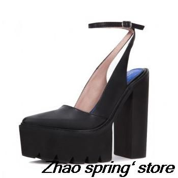 2015 summer in Europe and the cowhide pointed thick with waterproof female sandals - http://www.aliexpress.com/item/2015-summer-in-Europe-and-the-cowhide-pointed-thick-with-waterproof-female-sandals/32345545770.html