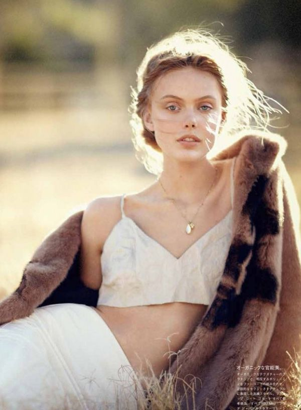 frida gustavsson by boo george for vogue japan