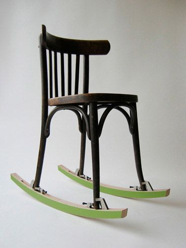 how to make a chair into a rocker 2