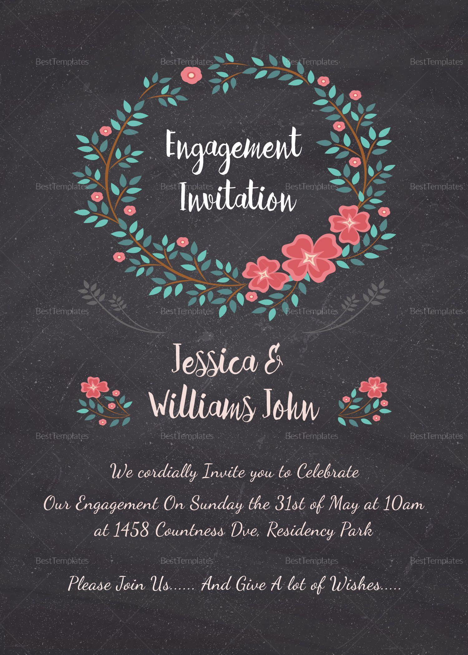 Engagement Invitation Card Template Throughout Engagement Invitati Engagement Invitation Cards Engagement Invitation Template Engagement Invitation Card Design