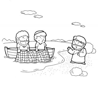Jesus Calls His Disciples Coloring Page Bible Crafts Sunday