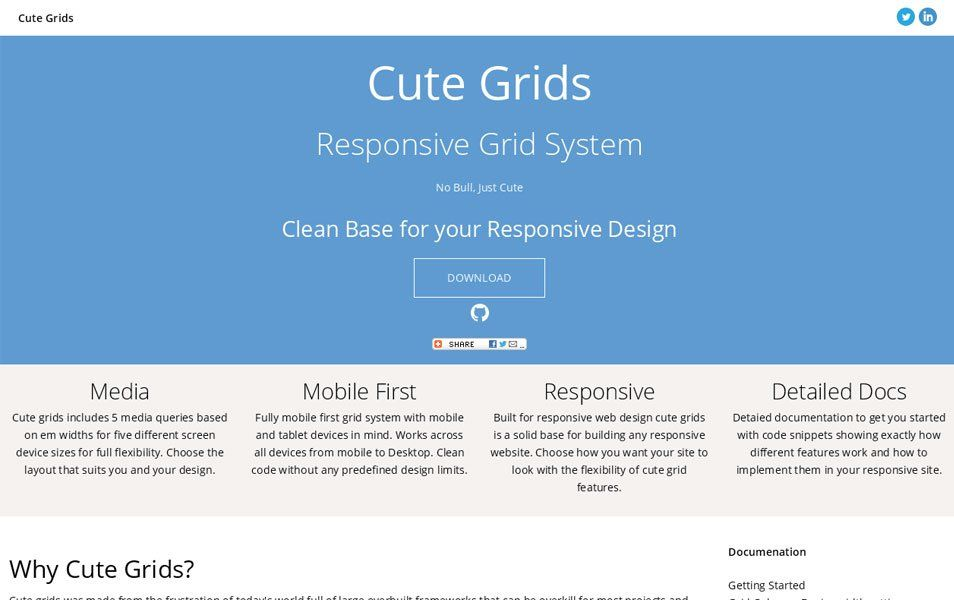 Cute Grids Responsive Grid System Fribly Responsive Grid System Grid System Web Design Resources