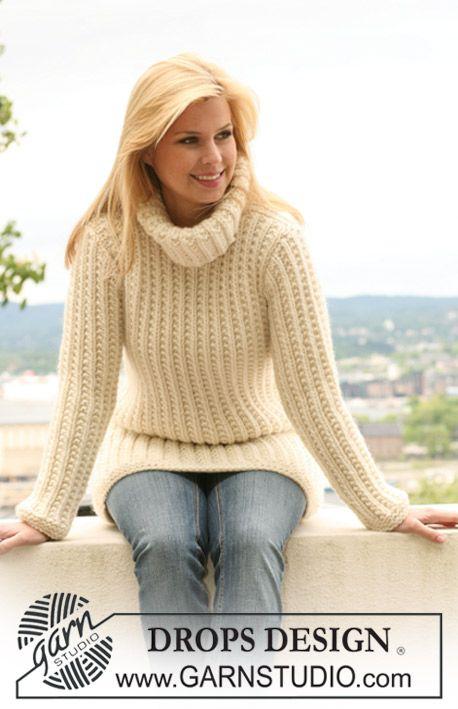 Eva Sweater DROPS 149 3 Gratis stickmönster från DROPS