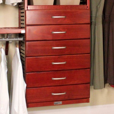 John Louis Home 16 X 6 Drawer Closet Organizer Walmart Com