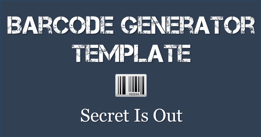 Secret Is Out Generate BarCode In Excel Barcode