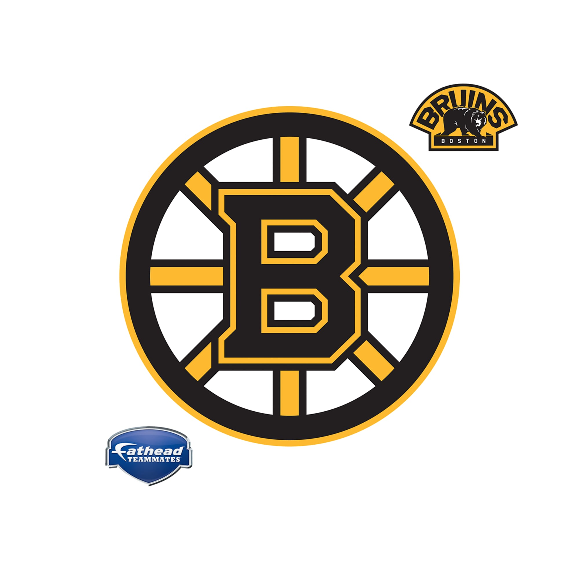 Boston Bruins Logo Giant Officially Licensed Nhl Removable Wall