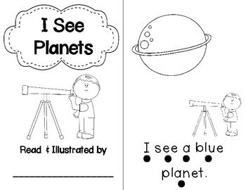 I SEE PLANETS EMERGENT READER FREEBIE
