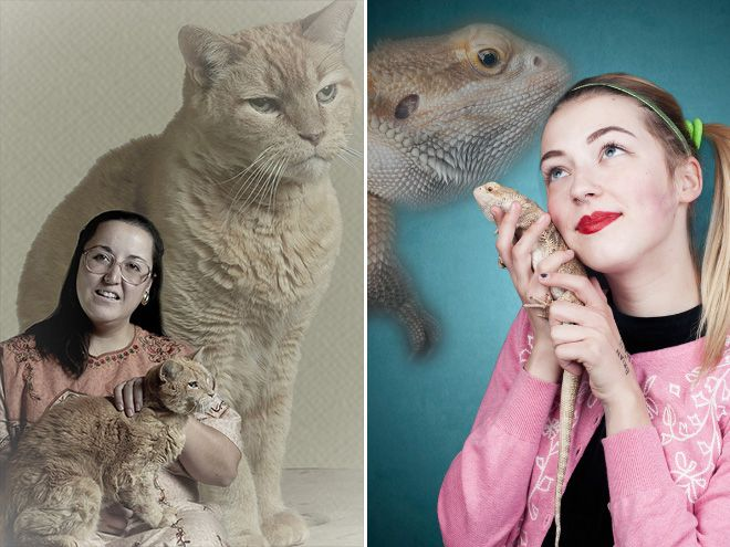 Horrendously Awful Glamour Shots With Pets Pleated Jeans Com