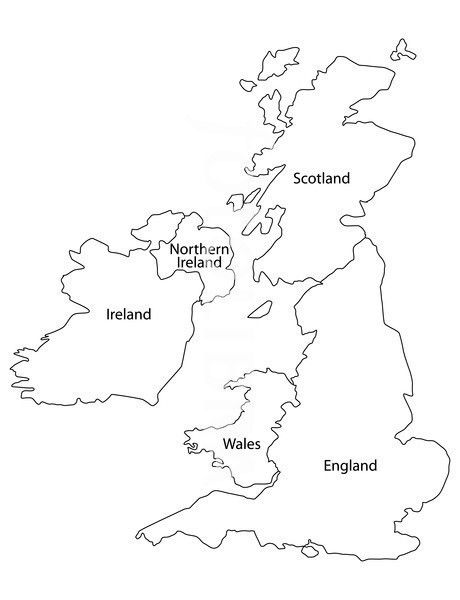 United Kingdom Outline Map Map Of Britain Map Of Great Britain
