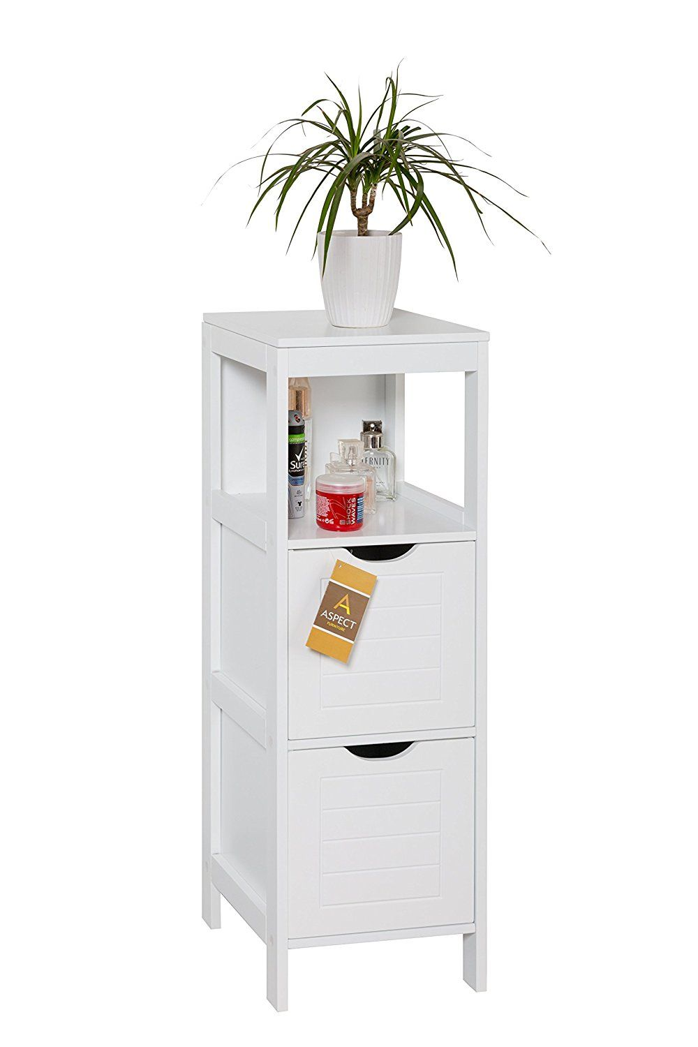 ASPECT Ashmore Free Standing Bathroom/Bedroom Storage Cabinet, Wood ...