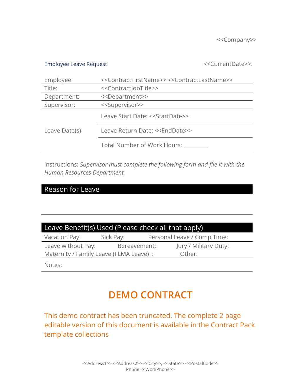 Employee Leave Request Form - Use the Employee Leave Request Form to ...