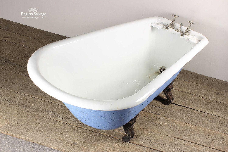 Reclaimed Blue Roll Top Bath | bathroom | Pinterest | Roll top bath ...