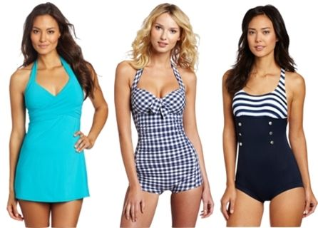 30394970a0b6c For Pear shaped women: Crossover Swim Dress, Indigo Boyleg Maillot, Seaview  Boyleg Maillot