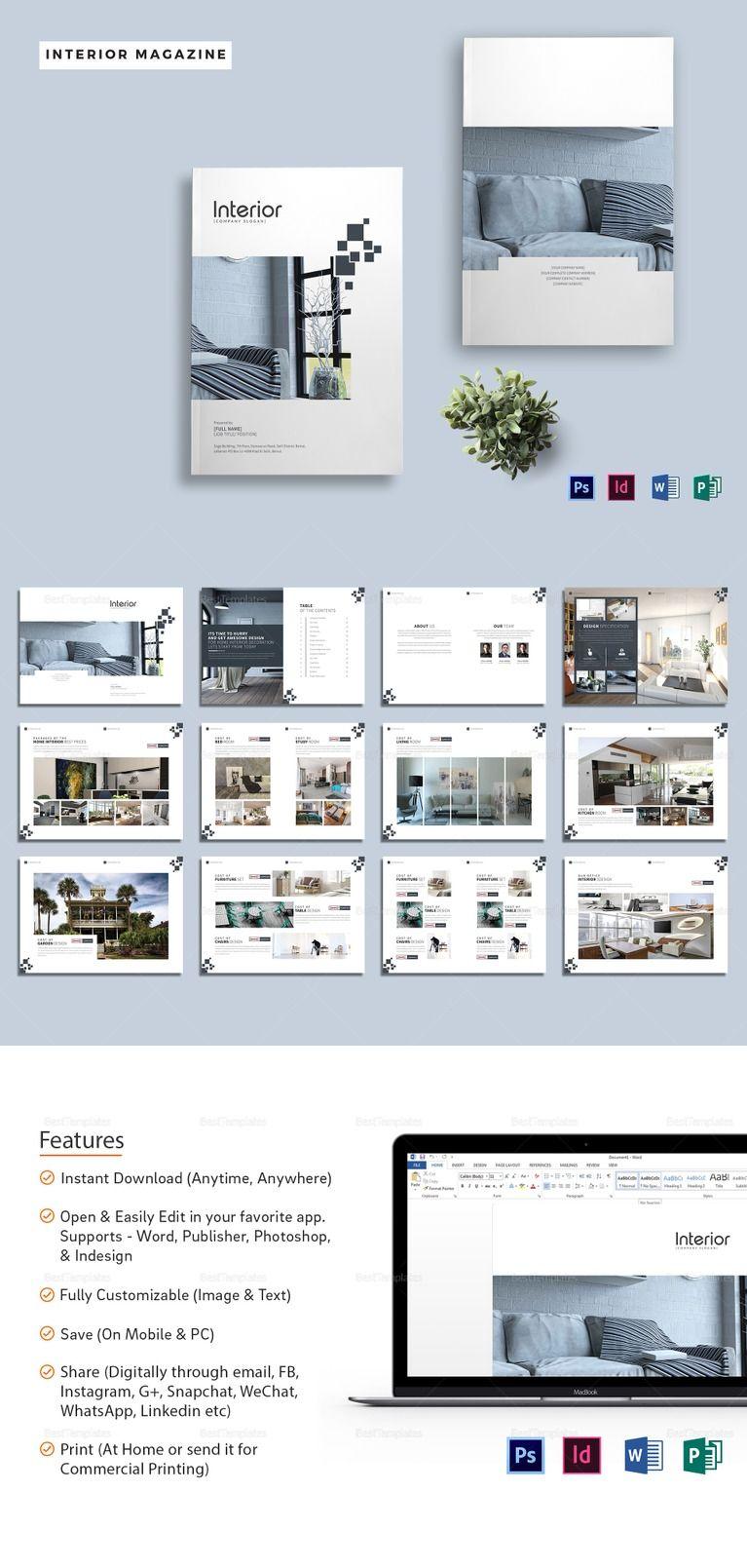 Printable Interior Design Magazine Template Interior Design