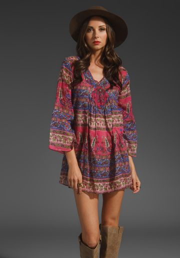 JEN'S PIRATE BOOTY Orwell Bell Sleeve Mini in Gypsy Pink at Revolve Clothing - Free Shipping!
