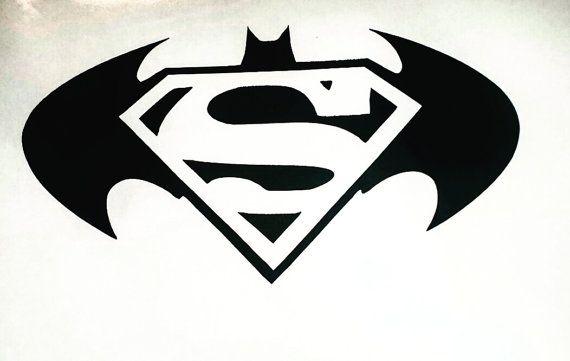 Batman Vs Superman Logo Car Decal By Plentifulpendants On Etsy
